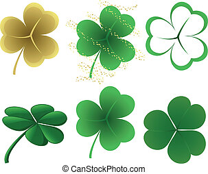 Shamrocks - A set of 6 different shamrock designs