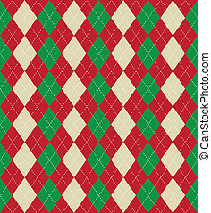 Christmas argyle pattern - Seamless tiled background of an...