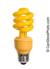Yellow light bulb - A yellow bug zapping energy efficient...