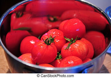 Peeled Tomatoes Ready for Soup