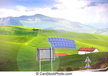 clean energy - , energy, solar, panel, power, alternative,...