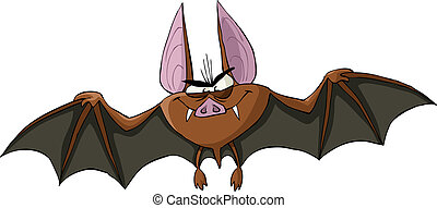 Bat on a white background, vector illustration