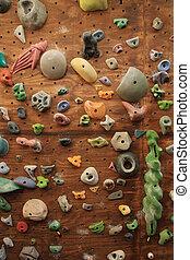 indoor climbing wall - vertical image of homemade indoor...