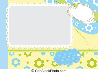 Children floral frame