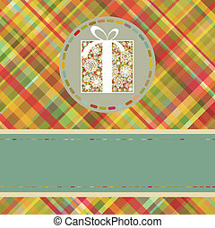 Christmas tartan background. EPS 8 vector file included
