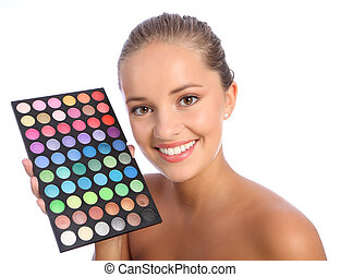 Beautiful make up artist eyeshadow colour palette -...