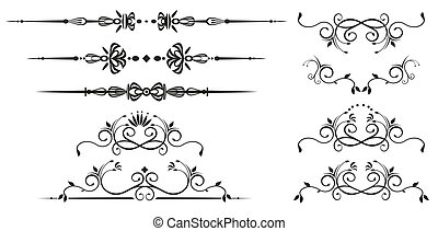 Decorative swirl elements Vectorized ornate scroll
