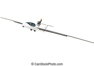 glider under the white background