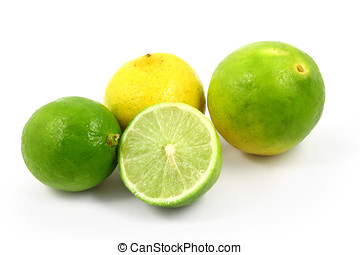 Key Limes - Fresh key limes isolated on white background