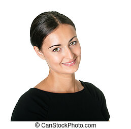 Pretty young woman with a sweet smile - Portrait of pretty...