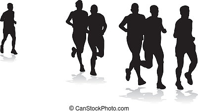 joggers - group of runners