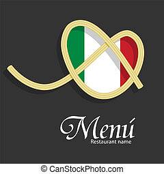 Menu design - Vector menu pattern for italian restaurant