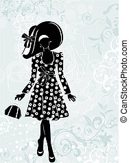 fashion girl  - vector illustration