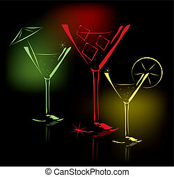 cocktail glasses - vector cocktail glasses