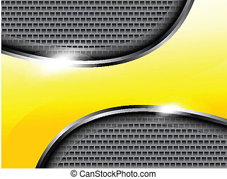 abstract yellow shiney mattlale background vector...