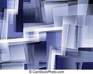 chaotic staircases - abstract background with a lot of...