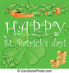 St, Patrick\'s, day, greeting, card