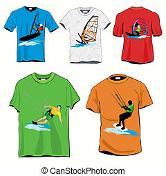 Surfers T-shirts Set