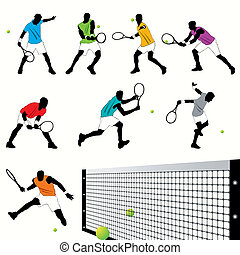 Tennis Players set