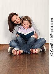 娘, 読まれた, 母, 教授, 家, 教育