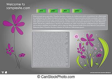 Web site design template 22