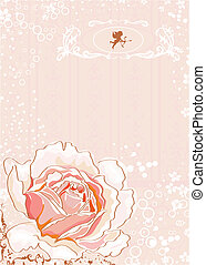 pink rose  - vector illustration
