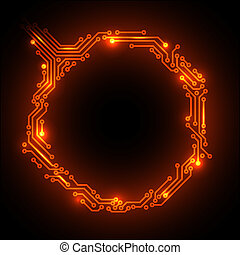 Hot Vector abstract circuit board background