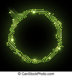 Vector abstract circuit board background