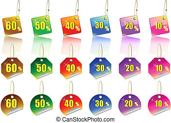 Sale Sticker Set - A Colourful Set of Sale Sticker Icons