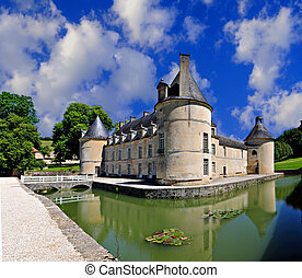 French Castle - French Chateau of Bussy Rabutin in Burgundy...