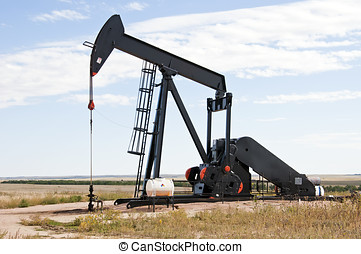Raised pump jack in Colorado, USA - Raised pump jack in...