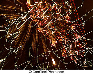 Multicolored Fireworks Cobweb - Multicolored Fireworks...