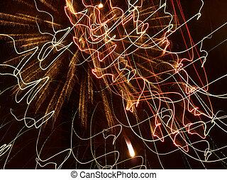 Multicolored Fireworks Cobweb. - Multicolored Fireworks...