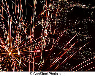 Multicolored Fireworks Bursts. - Multicolored Fireworks As...