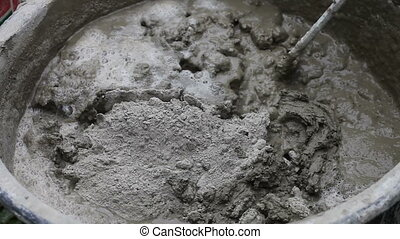 Making construction mortar - Preparation of construction...