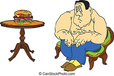 Diet - The fat man with the fear of looking at the...