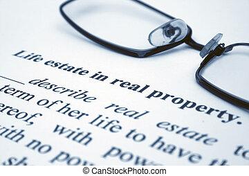 vida, propiedad