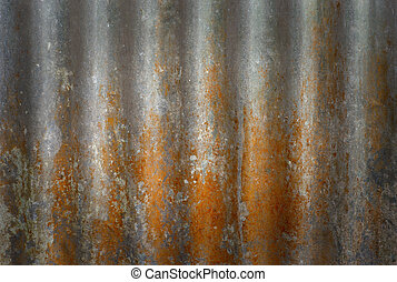 Rusty metal - Background of rusty metal with repetitive...