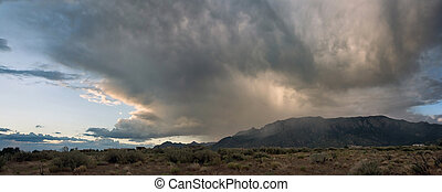 Desert Landscape: Supercell over Sandia Mountains - A giant...