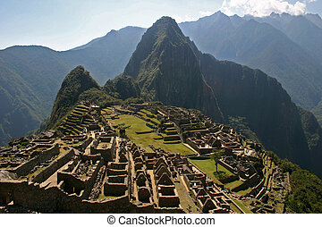 Machu Picchu, Peru - The ancient Incan ruin of Machu Picchu...