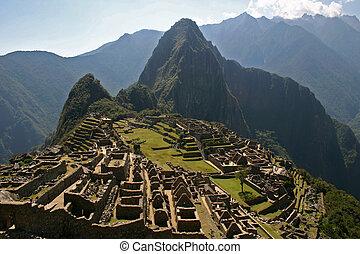 Machu Picchu, Peru - The ancient Incan ruin of Machu Picchu...