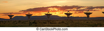 Very Large Array as Sunset, New Mexico - The Very Large...