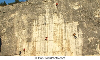 Good team - A team of professional climbers conquer the...