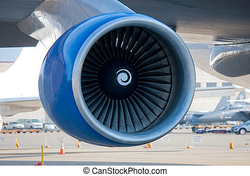 Jumbo Jet Engine Closeup