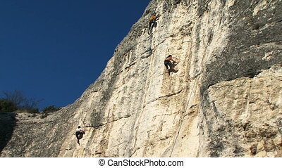 Conquerors of the new peak - A team of professional climbers...