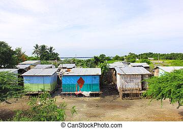 Slums - A poor area in Santa marta Colombia