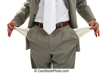 Man Pulling out Empty Pockets