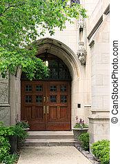 bâtiment, porte, historique