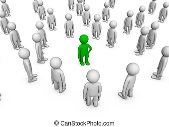 Individuality in a crowd