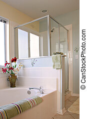 Clean Bathroom Interior Decorated